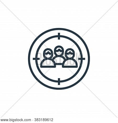 focus icon isolated on white background from startup and development collection. focus icon trendy a