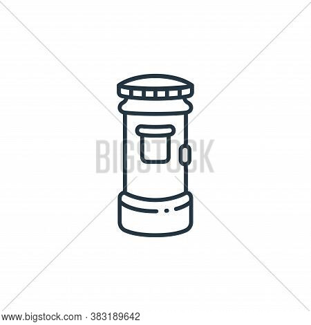 mailbox icon isolated on white background from england collection. mailbox icon trendy and modern ma