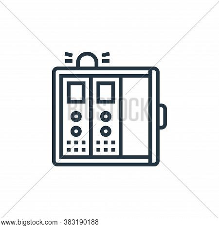 control panel icon isolated on white background from industry collection. control panel icon trendy