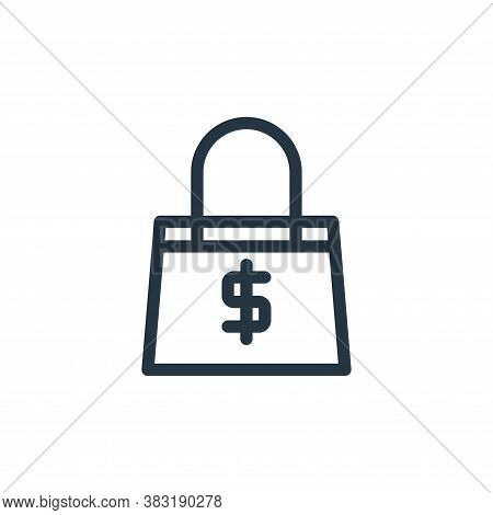 handbag icon isolated on white background from finance collection. handbag icon trendy and modern ha