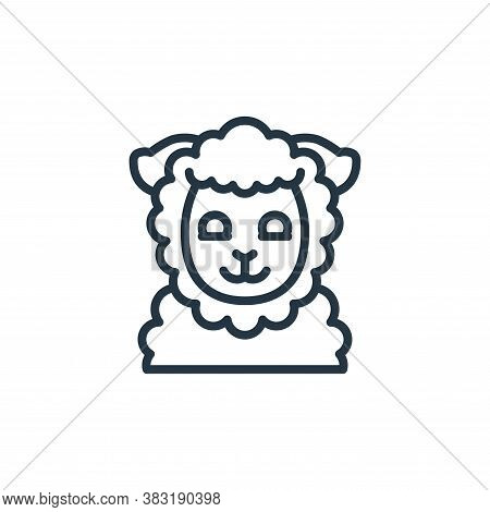 sheep icon isolated on white background from easter avatars collection. sheep icon trendy and modern