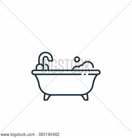bathtub icon isolated on white background from interior design collection. bathtub icon trendy and m