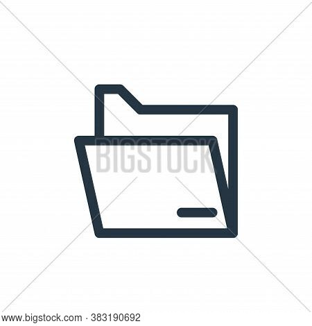 folder icon isolated on white background from graphic design collection. folder icon trendy and mode