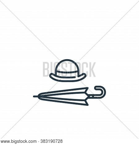 umbrella icon isolated on white background from england collection. umbrella icon trendy and modern