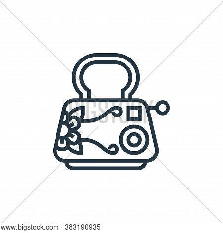 toaster icon isolated on white background from home appliances collection. toaster icon trendy and m