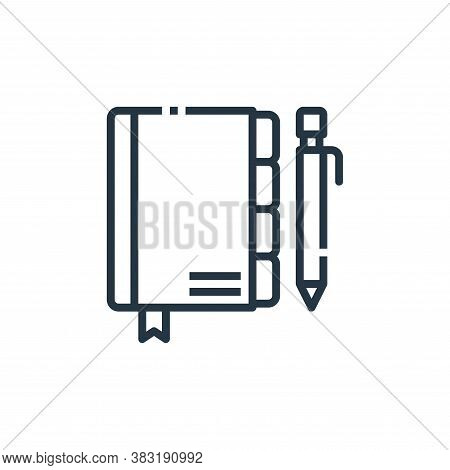 agenda icon isolated on white background from office collection. agenda icon trendy and modern agend