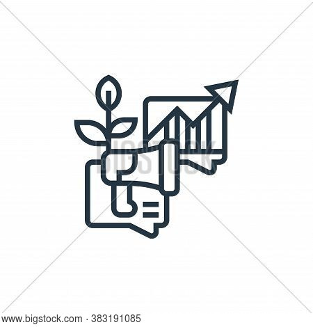 organic icon isolated on white background from digital marketing collection. organic icon trendy and