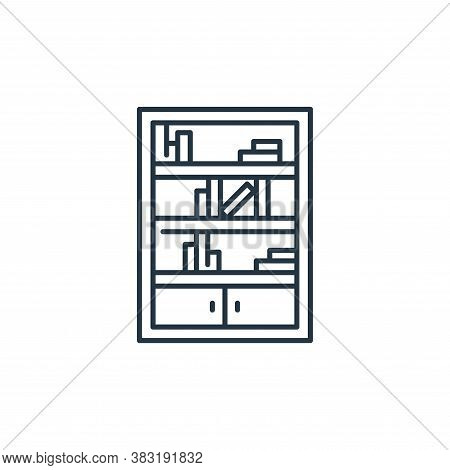 bookshelf icon isolated on white background from interior design collection. bookshelf icon trendy a