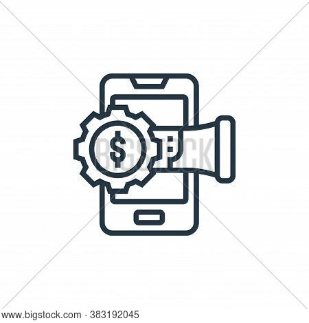 mobile marketing icon isolated on white background from digital marketing collection. mobile marketi