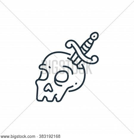 skull icon isolated on white background from pirate collection. skull icon trendy and modern skull s