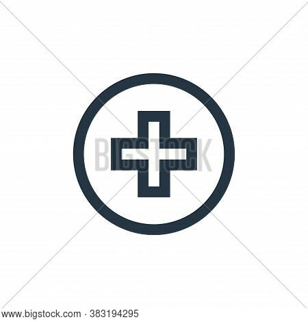 medical symbol icon isolated on white background from medical collection. medical symbol icon trendy