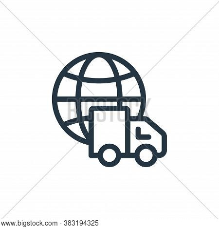 world wide shopping icon isolated on white background from ecommerce shopping collection. world wide