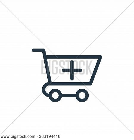 add cart icon isolated on white background from marketing and entertainment collection. add cart ico