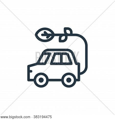 eco car icon isolated on white background from ecology line collection. eco car icon trendy and mode