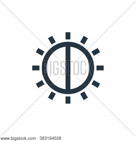 brightness icon isolated on white background from photography collection. brightness icon trendy and