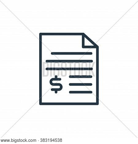 invoice icon isolated on white background from shopping and ecomerce collection. invoice icon trendy