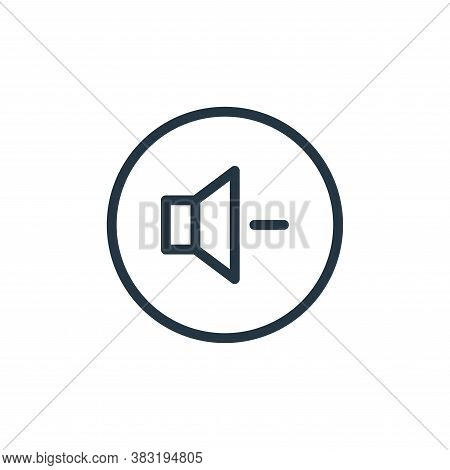 volume down icon isolated on white background from media player collection. volume down icon trendy