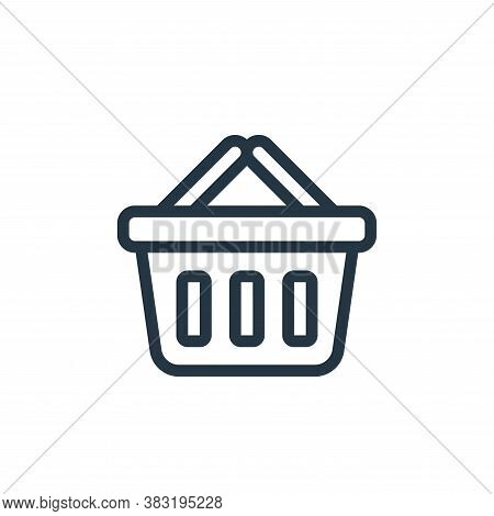 basket icon isolated on white background from ecommerce shopping collection. basket icon trendy and