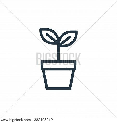plant icon isolated on white background from ecology line collection. plant icon trendy and modern p