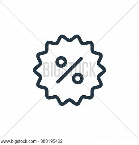 discount icon isolated on white background from ecommerce shopping collection. discount icon trendy