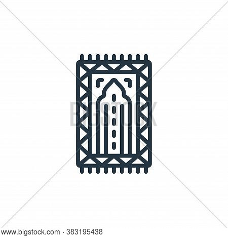 prayer rug icon isolated on white background from ramadan collection. prayer rug icon trendy and mod