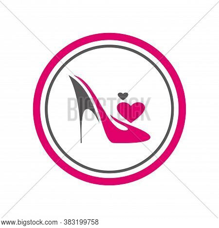 High Heels Shoes Logo Icon Graphic Vector Design