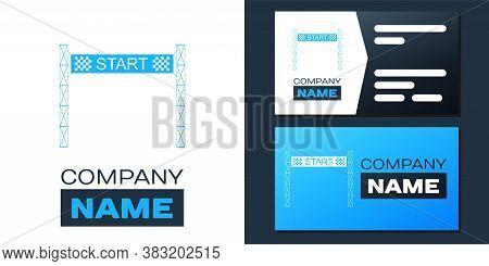 Logotype Starting Line Icon Isolated On White Background. Start Symbol. Logo Design Template Element