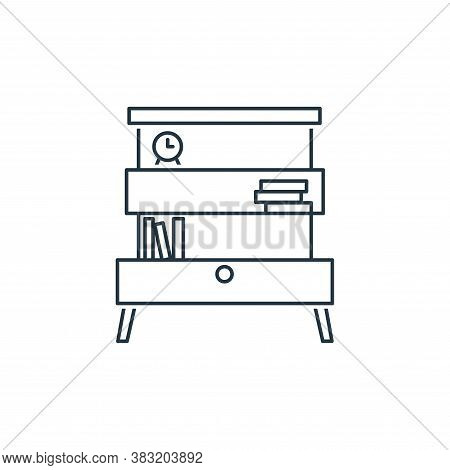 shelf icon isolated on white background from household collection. shelf icon trendy and modern shel
