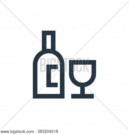 wine bottle icon isolated on white background from restaurant collection. wine bottle icon trendy an