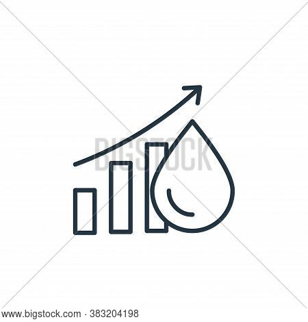 oil price icon isolated on white background from oil industry collection. oil price icon trendy and