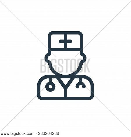 doctor icon isolated on white background from old age collection. doctor icon trendy and modern doct