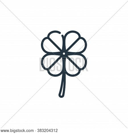 clover icon isolated on white background from st patricks day collection. clover icon trendy and mod