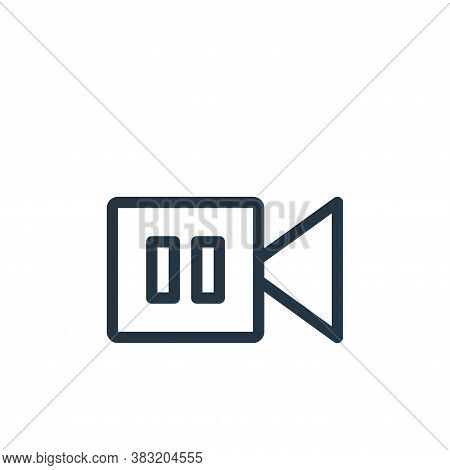 camera recorder icon isolated on white background from shopping collection. camera recorder icon tre