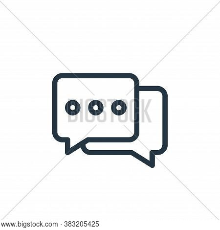 conversation icon isolated on white background from old age collection. conversation icon trendy and