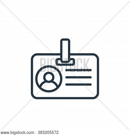id card icon isolated on white background from news and journal collection. id card icon trendy and