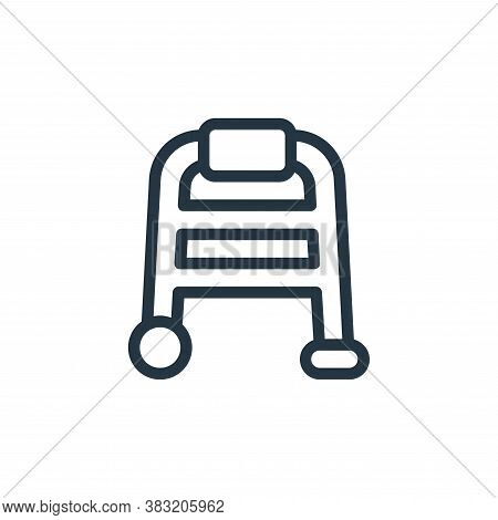 walker icon isolated on white background from old age collection. walker icon trendy and modern walk