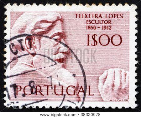 Postage stamp Portugal 1971 Antonio Teixeira Lopes, Portuguese Sculptor