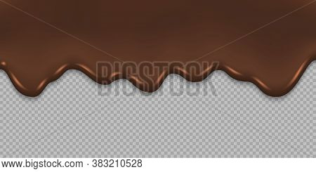 Dripping Melted Chocolate Background Template For Your Design