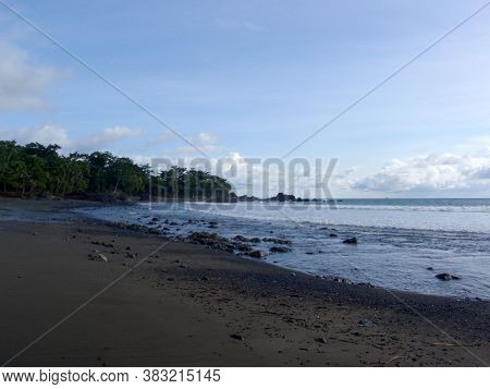Beach In Punta Banco, Costa Rica On The Pacific Coast Of The Country.