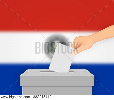 Paraguay Election Banner Background. Template For Your Design