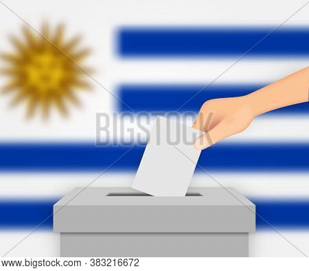 Uruguay Election Banner Background. Template For Your Design