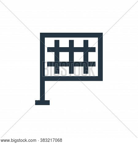 rectangular flag icon isolated on white background from sports collection. rectangular flag icon tre