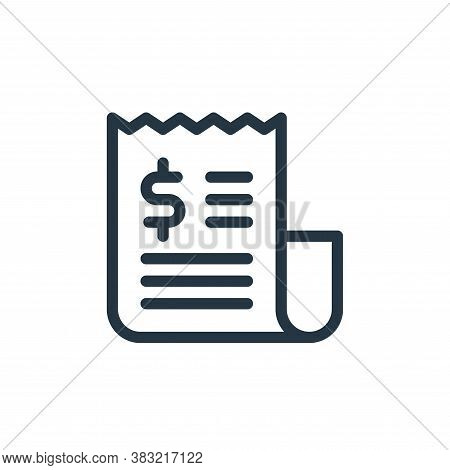 invoice icon isolated on white background from ecommerce shopping collection. invoice icon trendy an