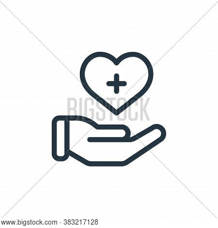 care icon isolated on white background from old age collection. care icon trendy and modern care sym