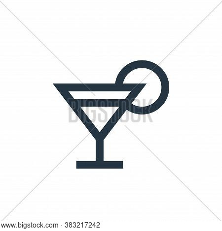 cocktail icon isolated on white background from restaurant collection. cocktail icon trendy and mode