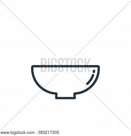 bowl icon isolated on white background from kitchen collection. bowl icon trendy and modern bowl sym