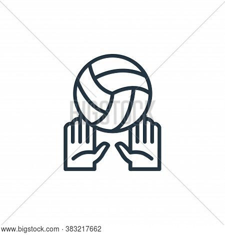volleyball icon isolated on white background from sport collection. volleyball icon trendy and moder