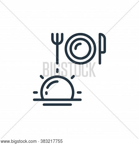 fasting meal icon isolated on white background from ramadan collection. fasting meal icon trendy and