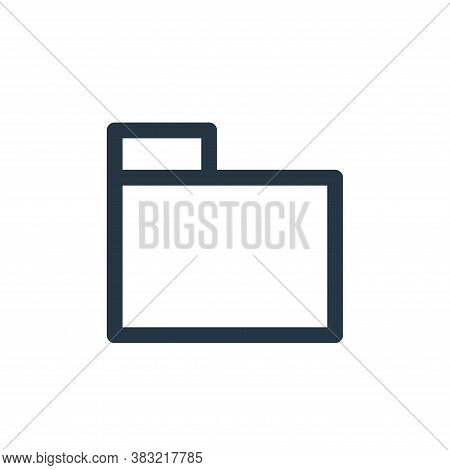 folder icon isolated on white background from finance bank collection. folder icon trendy and modern