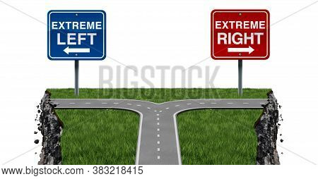Radical Politics And Extremism Or Extreme Left And Right Ideology As A Social Risk And Society Dange